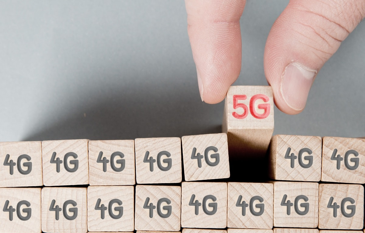 5G block in a row of 4G blocks